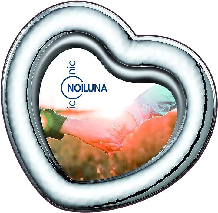 Cornice cuore portafoto in argento bilaminato, per un regalo davvero romantico  - noiluna iconic 34/3