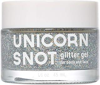 Unicorn Snot Holographic Body Glitter Gel - Vegan & Cruelty Free, Perfect for Festival, Rave, Halloween, Costume, Silver, 1.6oz
