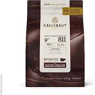 Callebaut Recipe No. 811 Finest Belgian Dark Chocolate With 54.5% Cacao, 5.51 Pound