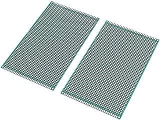 DollaTek 2PCS (9 x 15 cm) Placa de Circuito Impreso Placa de Circuito Universal de Doble Cara para Placas de Paneles para Soldadura de Bricolaje