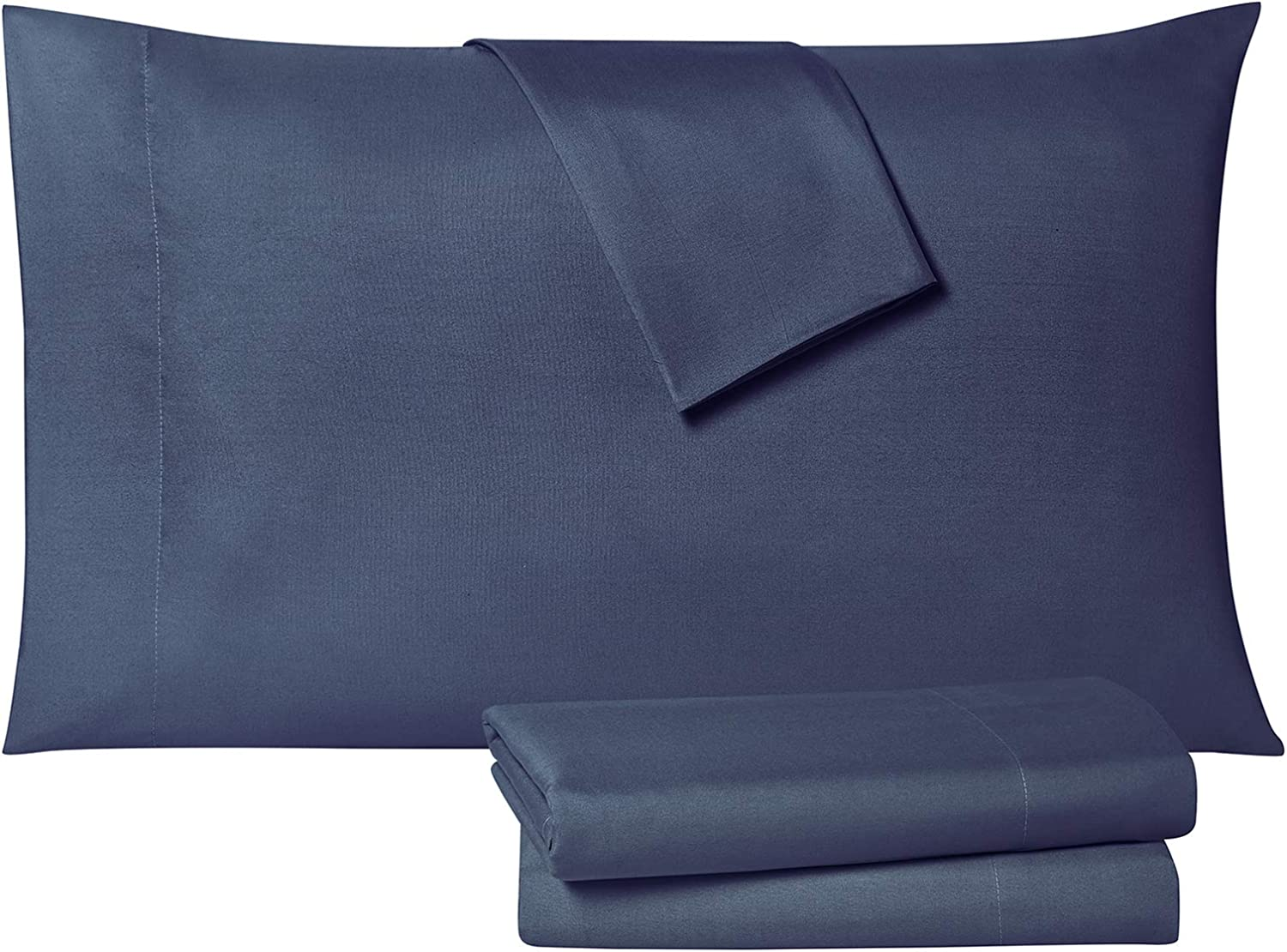 Tahari Home Modern Collection Premium Ultra Soft Lightweight Solid Sheet 6 Piece Set, Wrinkle, Stain Resistant & Hypoallergenic, King, Navy