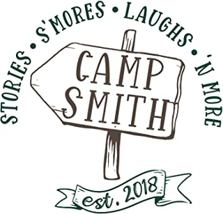 Custom RV Camping Decal Where Weiners Get Roasted Style 11011