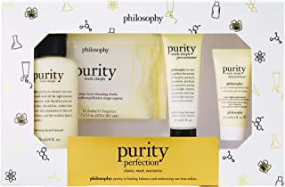Purity Perfection Kit by Philosophy for Unisex - 4 Pc 4oz One-Step Facial Cleanser, 0.5oz Ultra-Ligh
