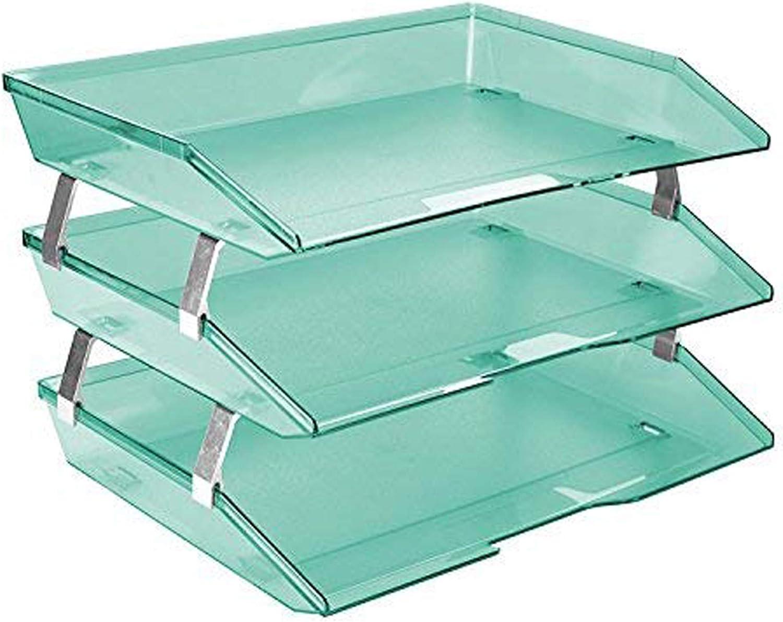 Acrimet Facility 3 Tier Bargain Letter Tray Plastic Fi Side Desktop Load Sale