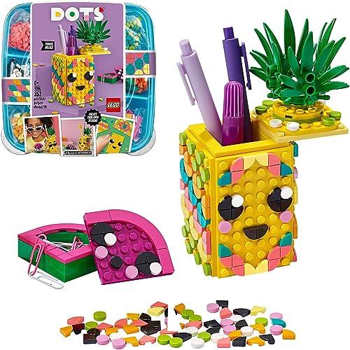 LEGO Dots 41906 LePotàCrayonsAnanas, Activité Manuelle, Accessoires de Bureau, Loisirs Créatifs et Bricolage pour...