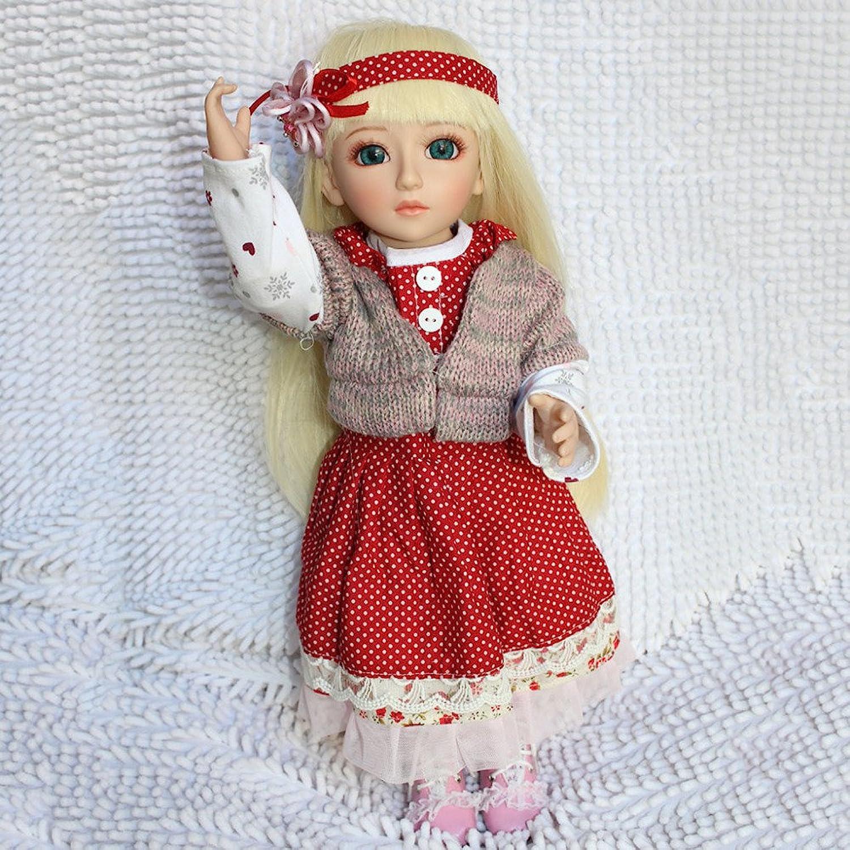 QXMEI Reborn Baby Süe Mdchen Spielzeug Reborn Weiche Puppe 18 Zoll 45 cm Realistische Lange Haare Prinzessin Kleid Wiedergeburt Puppe,BlondHair