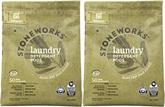 Grab Green Stoneworks Laundry Detergent Pods, Powered by Naturally-Derived Plant & Mineral-Based Powder Pods, Olive Leaf, ...