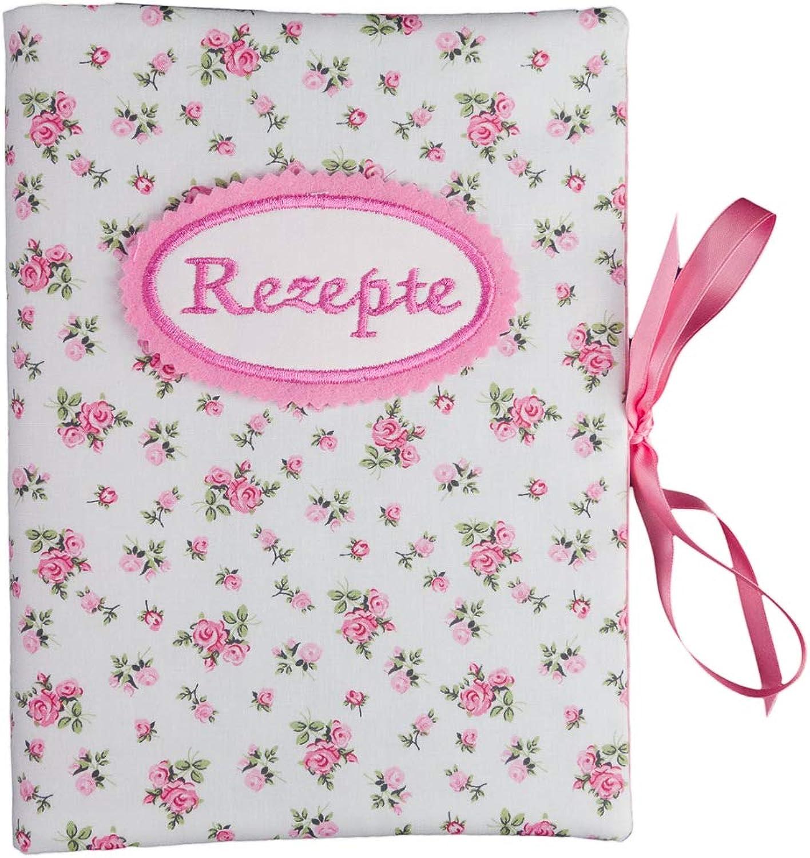 Bettina bruder - Rezeptmappe DIN A5 - - - innen 20 Sichthüllen - Rosan weiß Rosa B01MR5XQO4 | Hat einen langen Ruf  61f1b6