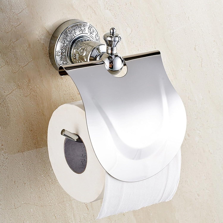Entrega gratuita y rápida disponible. FJH Soporte de de de Papel de bao Simple Rollo de Papel higiénico de WC (Color   La Plata)  caliente