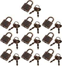 Angoily 10Pcs Mini Hangslot Bagage Sloten Ontmoette Sleutels Vintage Sieraden Doos Meubels Koffer Hangsloten Retro Vergren...