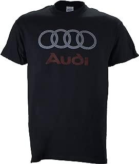 Audi Distressed Logo on a Black T Shirt