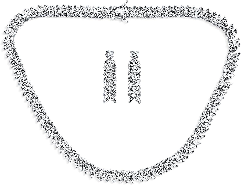 Art Deco Award-winning store Style Fashion Bridal Sale Multi Statement Co Marquise CZ AAA