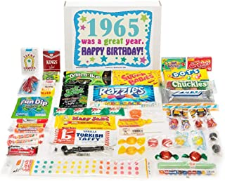 Woodstock Candy ~ 1965 54th Birthday Gift Box Mix of Nostalgic Retro Candy from Childhood for 54 Year Old Man or Woman Born 1965