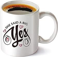 She Said a Big Yes, 11 oz Coffee Mug 11 oz, Engagement Gift, Engaged Mug Bride Mugs Fiance