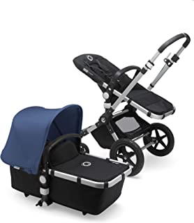 Bugaboo Cameleon3 Plus Complete Stroller, Alu/Black/Sky Blue - Versatile, Foldable Mid-Size Stroller with Adjustable Handlebar, Reversible Seat and Car Seat Compatibility