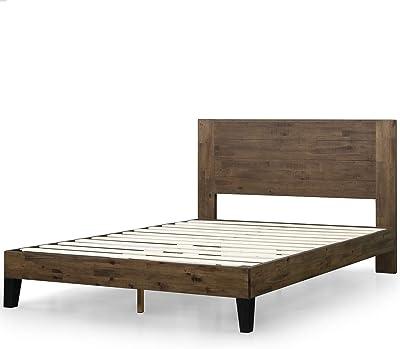 Zinus Tonja Platform Bed / Mattress Foundation / No Box Spring Required / Brown, King