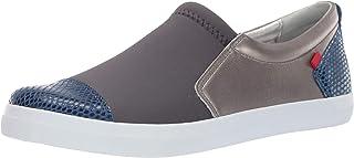 Marc Joseph New York Women's Leather Made in Brazil Jay Street Sneaker, royal blue snake, 5.5 M US