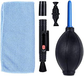 Kit de Limpieza de c/ámara 3IN1 Traje Limpiador de Polvo Cepillo Soplador de Aire Toallitas Kit de Tela Limpia paraparaparaVideoc/ámara VCR (Negro)
