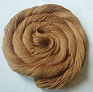 Four Pack Cinnamon Brown Cotton Fingering Lace Weight Knitting Crochet Yarn