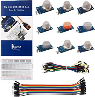 Keywish Basic Gas Sensor MQ-2 MQ-3 MQ-4 MQ-5 MQ-6 MQ-7 MQ-8 MQ-9 MQ-135 Sensor kit set for Arduino Starter Kit gas detection