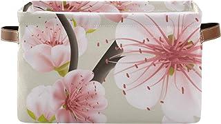 xigua 1 panier de rangement en toile avec poignées - Panier pliable pour jouets, linge, étagère, salle de bain, boîte de r...