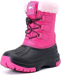 Snow Boots for Kids Girls Boys Outdoor Winter Waterproof Lightweight High Booties Shoes