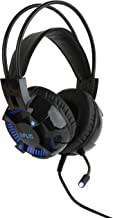 LVLUP Ghost Gaming Headset with LED Earcups LU732 | Deluxe Headset with Microphone for Nintendo Switch, Xbox One, Playstation 4, and Gaming PC, LED Lighted Earphones, Comfortable and Secure Fit (Blue)