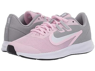 Nike Kids Downshifter 9 (Big Kid) (Pink Foam/White/Metallic Silver) Girls Shoes
