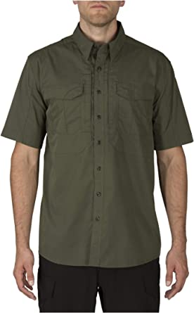 5.11 Tactical Men's Stryke Short Sleeve Professional Button Down Shirt, Flex Tac Fabric, Style 71354