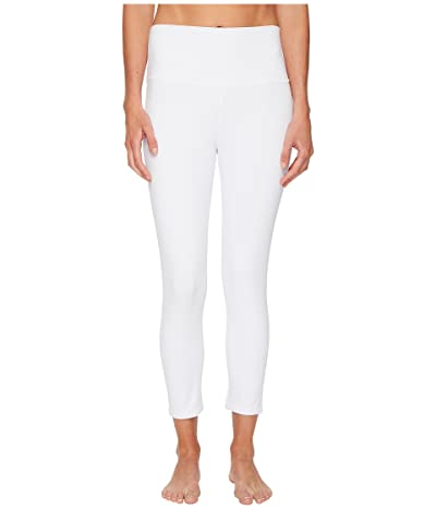 ALO High Waist Airbrush Capris (White) Women