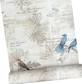 Autoadhesivo decorativo Vintage papel de contacto estante maletero Peel y Stick extraíble papel pintado para estantes cajó...