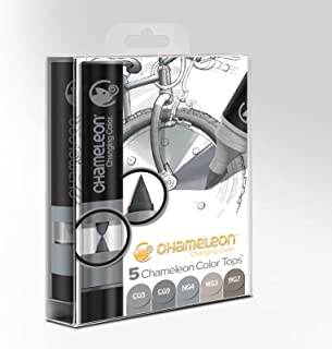 Chameleon Art Products - 5 Color Tops - Accessoires Chameleon pour des dégradés de Couleurs; Tons Gris