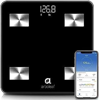 مقیاس وزن - مقیاس هوشمند مقیاس چربی بدن بلوتوث بی سیم با iOS ، APP Android ، کاربران نامحدود ، تشخیص خودکار ، 10 آنالیز کننده ترکیب بدن ، چربی ، BMI ، BMR ، توده عضلانی ، 396 پوند - سیاه