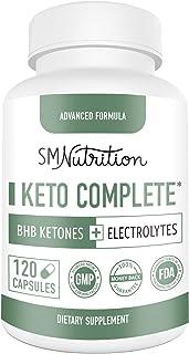 Keto BHB Supplement + Electrolytes (120 Caps) BHB Ketones Supplement 1650mg + Calcium, Potassium, Sodium, Magnesium, Vitam...