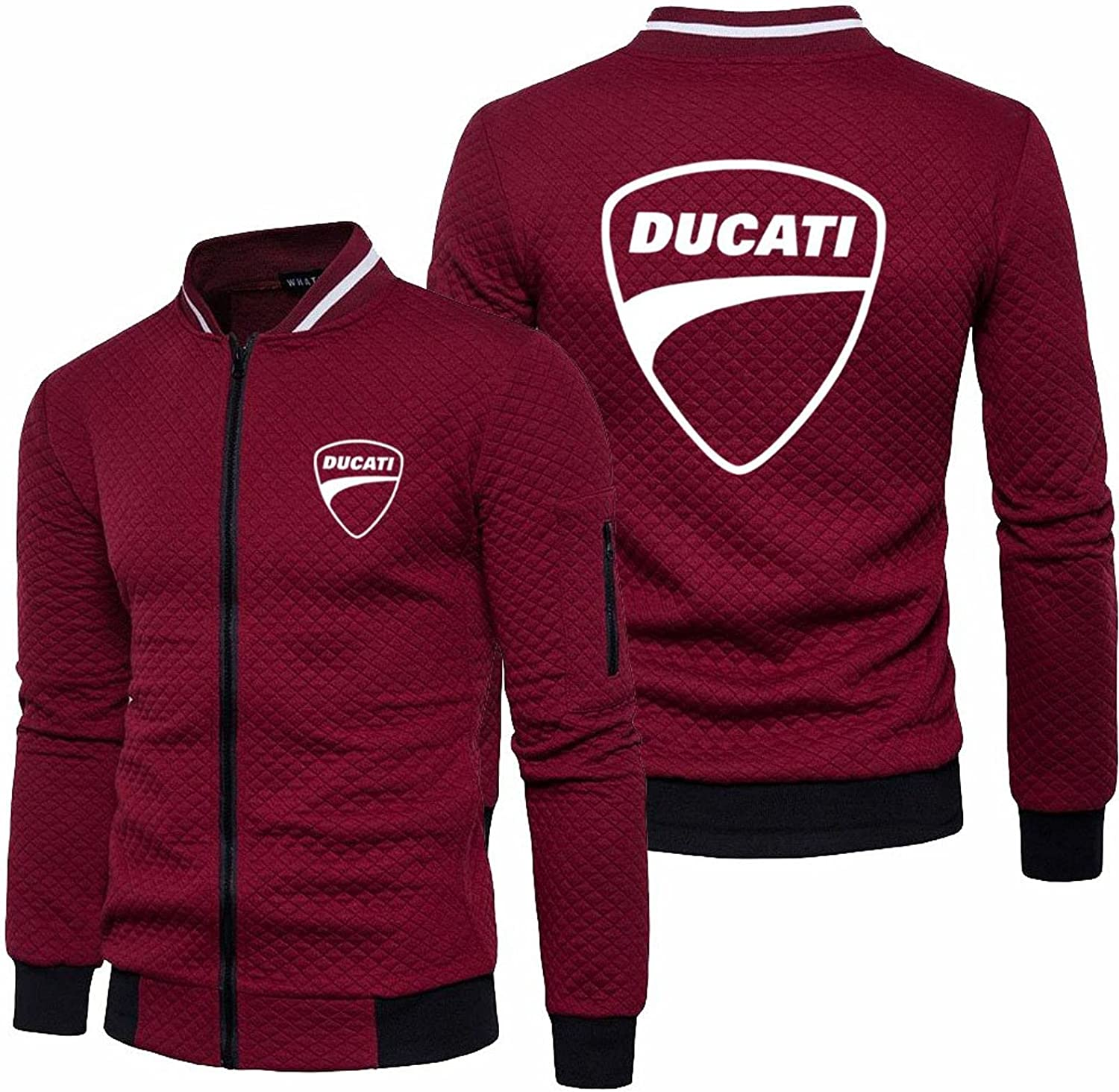 Courier shipping free BOUTIQUE GIFT Men's Baseball Jacket for Printing Ducati Uniform Sale SALE% OFF