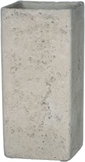 Sullivans Square Cement Vase, 4 x 8.5 Inches, Gray (CMT1092)