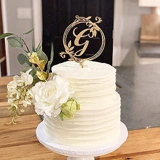 twig monogram cake topper