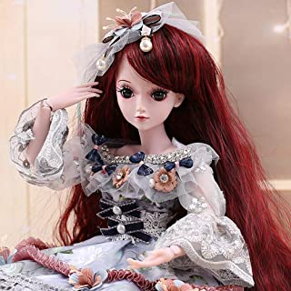 UCanaan BJD Doll, 1/3 SD Dolls 23.6 Inch 19 Ball Jointed Doll DIY Toys with Full Set Clothes Shoes Wig Makeup, Best Gift f...