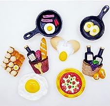 VOSAREA Comida Imanes de Nevera Cocina Decorativa Resina Refrigerador Magnético Pegatinas Niños Juguete (Huevo Filas)