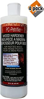 PC Products PC-Petrifier Water-Based Wood Hardener, 16oz, Milky White 164440, 4 Pack