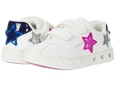 Geox Kids Skylin Girl 1 (Toddler) (White/Fuchsia) Girl