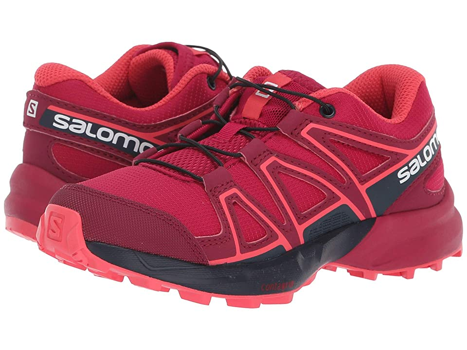 Salomon Kids Speedcross (Little Kid/Big Kid) (Cerise/Navy Blazer/Dubarry) Girls Shoes