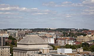 Photograph- View from the top of The Cairo apartment building, 1615 Q St, NW, Washington, D.C. 2 Fine Art Photo Reproduction 44in x 30in