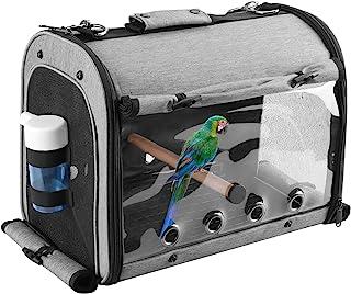 ABONERY Bird Travel Bag Portable Bird Parrot Carrier Transparent Breathable Travel Cage, Lightweight Bird Carrier with Foo...