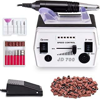Professional Nail Drill Machine Grinder Tool Efile Remove Acrylic Nail Gel Electric Manicure Equipment for Home and Salon Use(Black)