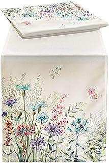 SIDCO Tischläufer Blumenwiese Tischband Tischdecke Läufer Frühling Deko 40x140 cm