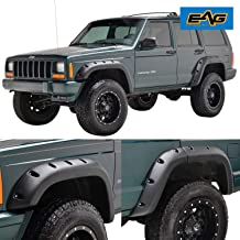EAG Fender Flares Rivet Style Bolt on Pocket Style Fit for 84-01 Jeep Cherokee XJ