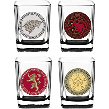 View Game Of Thrones Shot Glasses In Wooden Box Background