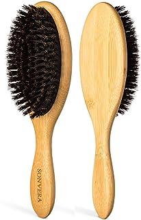 Boar Bristle Hair Brush for Men Natural Hair Brushes for Women Pure Boar Bristle Brush Mens Hair Brush Set Boars Hair Brus...
