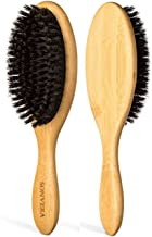 Boar Bristle Hair Brush Men | Mens Brush Hair Brushes for Women | Pure Boars Hair Brushes for Women Mens | Oval Brush | 100% Bamboo Wooden Bore Pro Eco Hairbrush for Thin Natural Soft Fine Hair
